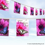 Mothers day bunting design 4 flowers